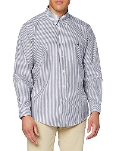 Brooks Brothers Herren Camicia Sportiva Hemd mit Button-Down-Kragen, blau, Medium