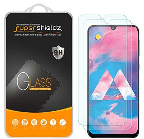 (2 Pack) Supershieldz for Samsung Galaxy M30 Tempered Glass Screen Protector, Anti Scratch, Bubble Free