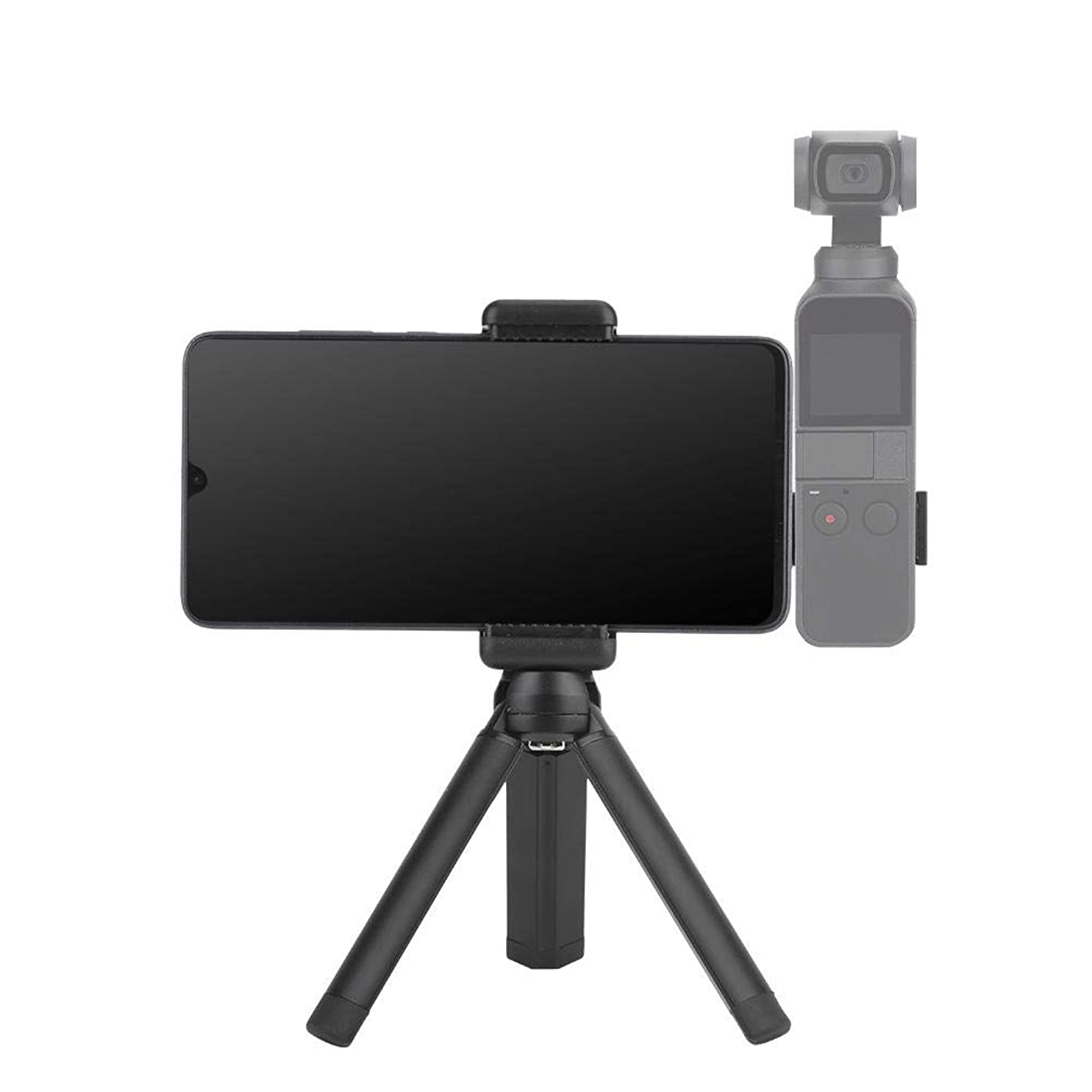 Camera Tripod, Portable Metal Tripod of for OSMO Pocket Compaitble with Mobile Phone Width of 6-10cm