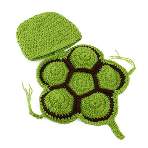 PRETYZOOM Crochet Turtle 0-3 Meses Traje de Halloween Trajes de Bebé Disfraces Infantiles Meses Fotografía Niño Hamaca para Cuna Props Prop Karate Kid- Baby Shower Photo Props