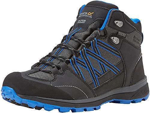 Regatta Samaris II Mid, Walking Shoe Hombre, Ash/Oxford Blue, 41 EU
