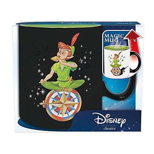 Peter PAN Disney - Taza de cermica con efecto trmico (460 ml, en caja de regalo), diseo de Nimmerland