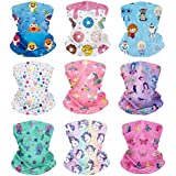 6 Pieces Kids Summer Neck Gaiters Dust Sun...
