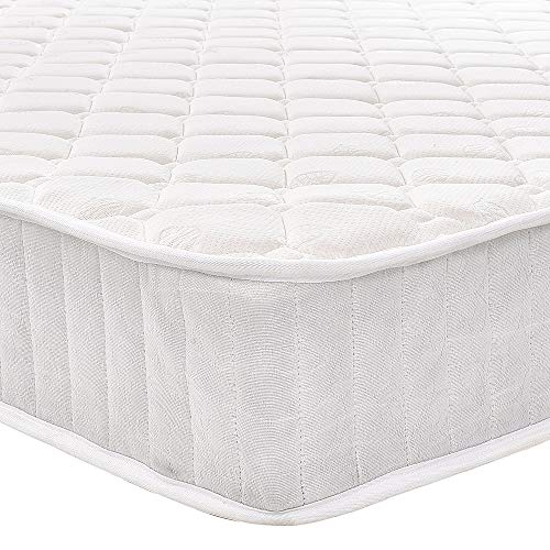 PANANASTORE 4FT6 Double Sprung Mattress Foam Breathable Spring Bed Mattress White 135 * 190 * 20CM