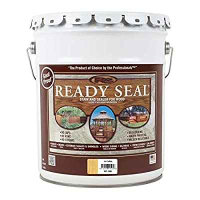 Ready Seal 505 Exterior Stain and Sealer for Wood, 5-Gallon, Light Oak