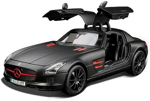 Modèle de voiture moulée, collection SLS AMG à l'échelle 1 18, détail de la hauteur en alliage, porte ouverte (Couleur   noir, Taille   25.8  11.7  7.2CM)