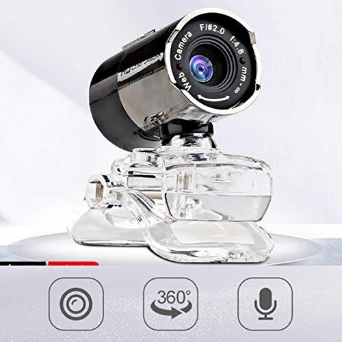 DERCLIVE Treiberfreie USB-Webcam Computerkamera mit Mikrofon für Videokonferenzen Und Videoanrufe