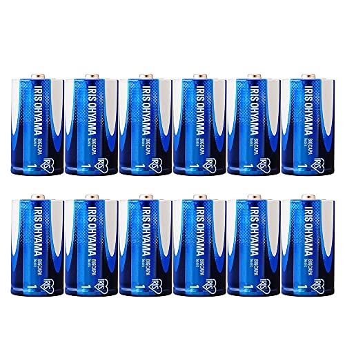 【Amazon.co.jp限定】 アイリスオーヤマ 乾電池 単1 アルカリ 12本パック 5年保存 BIGCAPA basic 12P