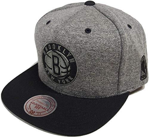 Mitchell Ness Herren Snapback Cap Broad Brooklyn Nets grau Verstellbar