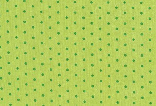 Stoff\'l - FEINES FÜR KINDER Westfalenstoffe * Nicki * Punkte grün * 50 x 160 cm