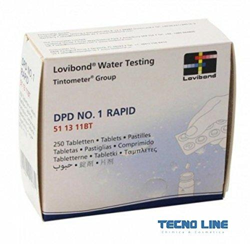 Pastilles DPD1 pour testeur chlore – Emballage 250pz. – Expédition immédiate