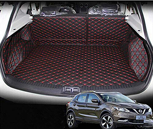 ZPDM Spezielle Kofferraummatten Wasserdicht Cargo Liner Kofferraum Teppiche Für Nissan Qashqai J11 2016~2019,Khaki,BlackRed