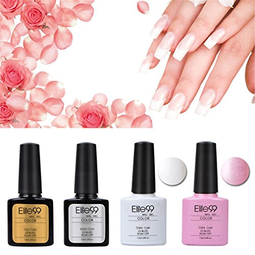 Elite99 Kit Manicura Francesa Uñas Gel Laca Shellac