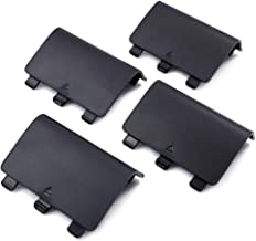 VOGADA Replacement Battery Back Cover for Xbox One, Battery Cover Door for Xbox One, Xbox One S Controller, Repair Shell Cover Part for Xbox Wireless Controller (Black, 4 Pack)