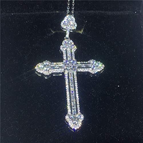 GYXYZB grote lange kruis hanger ketting 925 sterling zilver Aaaa partij kruis hanger voor vrouwen mannen verjaardag sieraden