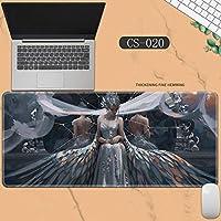 素敵なマウスパッド特大アイスプリンセスゴーストナイフ風チャイムプリンセスアニメーション肥厚ロック男性と女性のキーボードパッドノートブックオフィスコンピュータのデスクマット、Size :400 * 900 * 3ミリメートル-CS-020