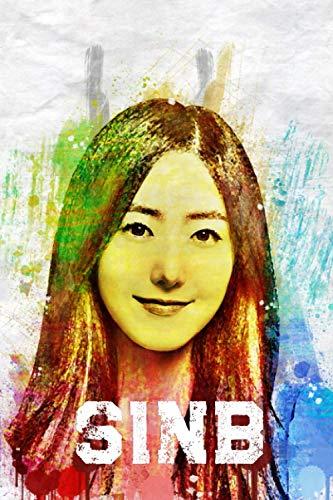 SinB: GFriend Member Color Splatter Art 100 Page 6 x 9' Blank Lined Notebook Kpop BUDDY Merch Journal Book