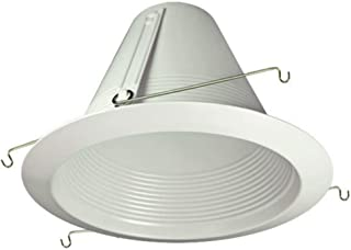6 Inch Recessed Can Light Cone Trim, White Air Tight Baffle Trim, Anti-Glare Self-Flanged Downlight Trim, for PAR30, BR30, PAR38, BR40, A19 Bulbs & 6 Inch Housing Can (Pack of 1)