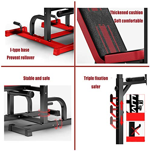 Adjustable Weight Bench Set, 1100Lbs Load Bearing Bench Press Set with Bar Strength Training Benches for Home Gym Exercise Abdominal Muscles Muscles Back Muscle Pectoral(Excluding Barbell)