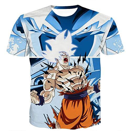 Preisvergleich Produktbild U / A Sommer 3D Druck T-Shirt Monkey King Cartoon Herren Atmungsaktiv T-Shirt Rundhals Kurzarm Mode Gr. XXXXX-Large