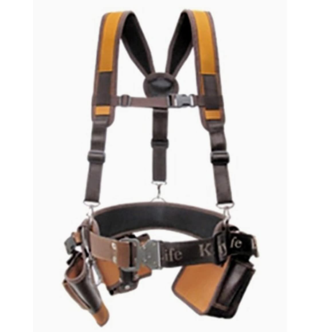Kaya Life fabirc multi tool holders- Suspender+ Wide belt + Drill house+ Multipurpose tool housing+ Nail pocket 5pcs set