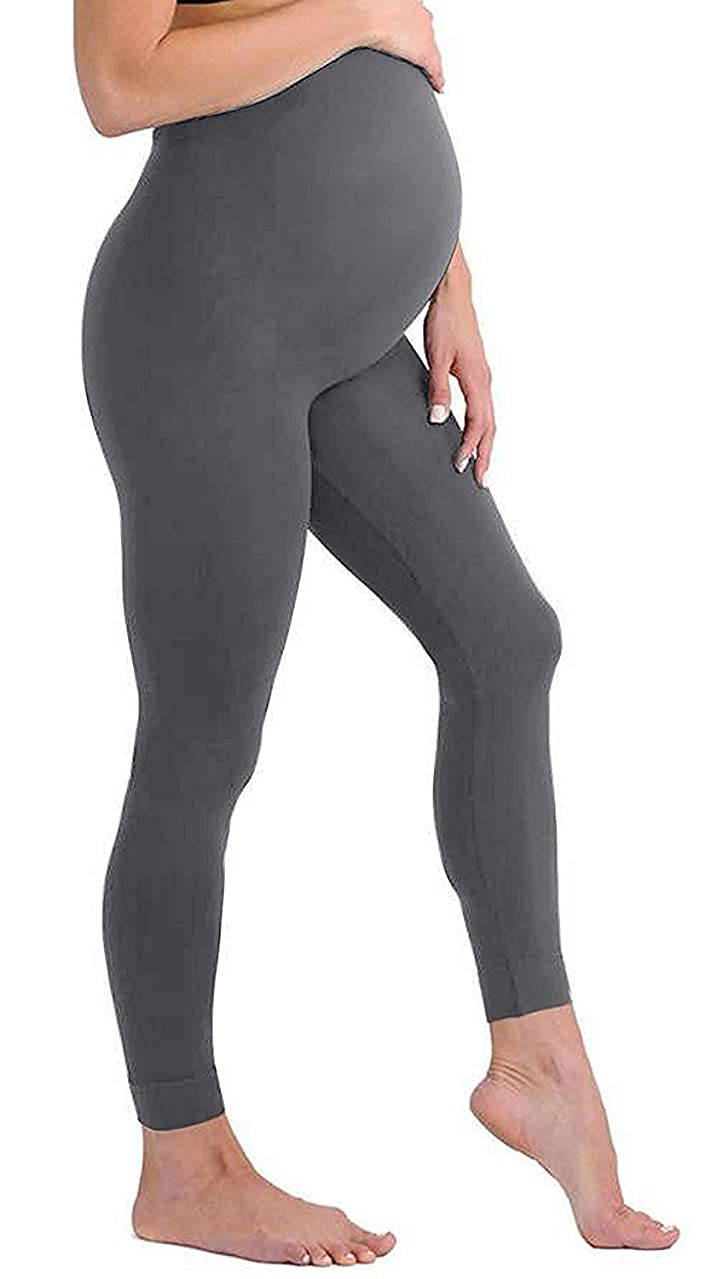 Maternity Leggings Seamless Solid Color Nursing Clothes Tights - 1, 2, and 3 Pack Gift Set - Stretch