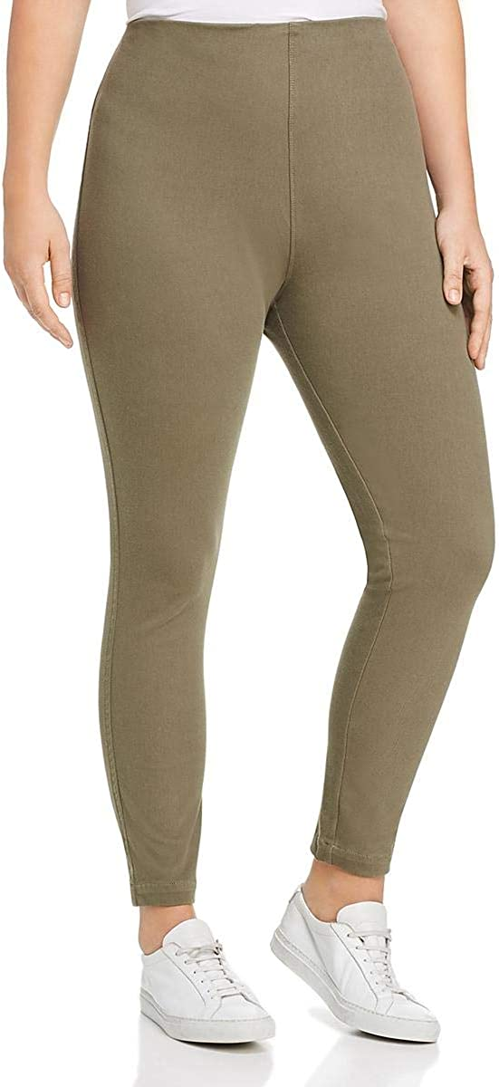 Lysse Womens Plus High Rise Slim Leg Denim Leggings