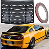 Matte Black Rear Window Louvers Sun Shade Windshield Cover in GT Lambo Style, Compatible with Ford Mustang 2005-2014 (ABS, Fits for All Weather)