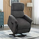 Bonzy Home Recliner Electric Power Recliner Chair Lift with Remote Control - Home Theater Seating - Bedroom & Living Room Chair Recliner Sofa - Elderly Chair (Grey)