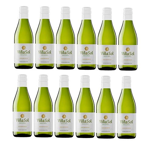 Viña Sol, Vino Blanco - 12 botellas de 18.7 cl, Total: 2244 ml