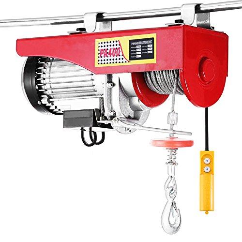 VEVOR Elektrische Seilwinde 400kg Seilhebezug 220V Seilhebezug Elektrisch mit Kabel-Fernbedienung TÜV Rheinland GS Geprüft (400kg)