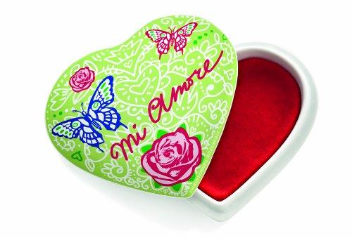RITZENHOFF Le Petit - Joyero de cerámica, diseño de corazón con Texto mi Amore de Ingrid Robers