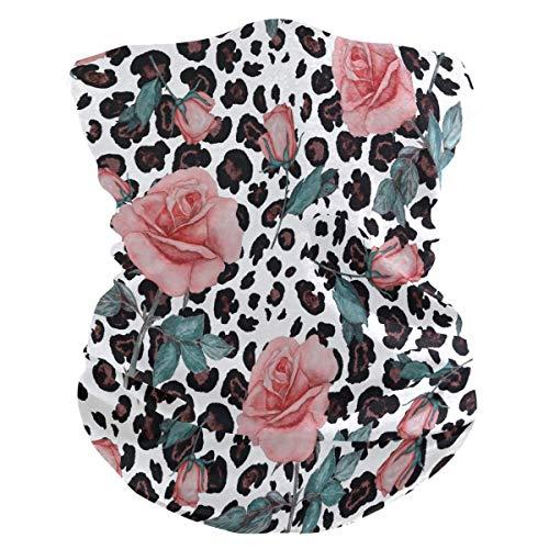 Aquarel Leopard Roses gezichtsmasker Anti-druppel multifunctionele magische sjaal motorfiets buitensport Naadloze kleurrijke Wrap hoofdband sjaal