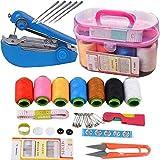 Kit de costura, herramienta de costura a mano, juego de caja de costura para el hogar, caja de almacenamiento de costura portátil y portátil