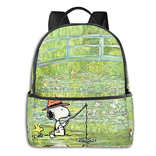 Snoopy Anime Fashion Cute Boy Girl Mochila escolar