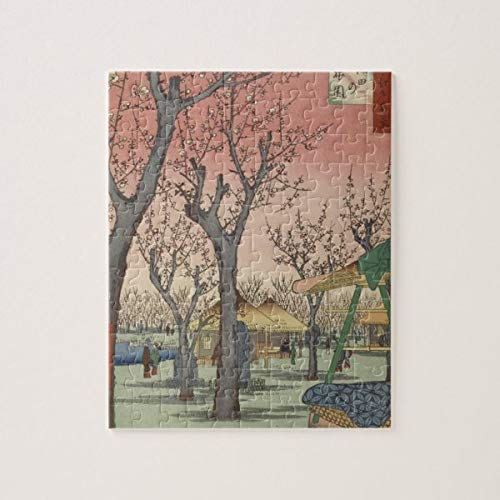 CICIDI Tree Blossoms Plum Garden Japanese Woodblock Jigsaw Puzzle 1000 Pieces for Adults, Entertainment DIY Toys for Creative Gift Home Decor