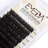 EMEDA individual Lash Extension C Curl Eyelash extensiones individuales pestañas tira de .15 grosor mezcla largo pestañas bandeja (C 0,15 Mix)