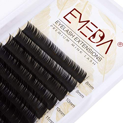 EMEDA Faux Mink Eyelash Extensions 0.20mm C curl 8-15mm Mix length 3D Individual Lash Extensions .20mm Mixed Tray Faux Lash Extensions for Makeup (0,20mm C mix)