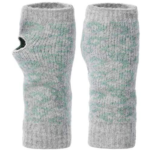 Seeberger Jacquard Leo Stulpen Handwärmer Pulswärmer Handschuhe (One Size - grau)