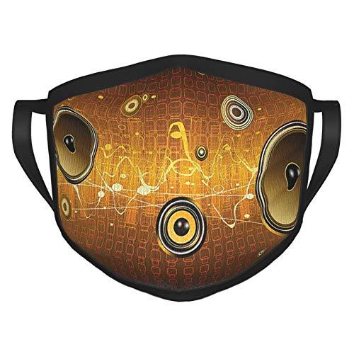 xmy Pañuelo facial reutilizable con altavoces de música urbana para fiestas, instrumentos...