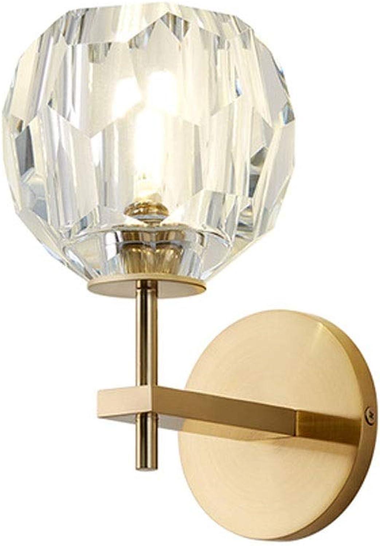 Qgeneric Postmoderne Wandlampen Kristall LED Licht Restaurant Badezimmer Eisen Lampen Lampe Gold Bronze Glanz dekorative Wandlampen
