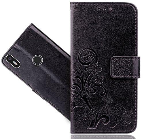 BQ Aquaris X5 Plus Handy Tasche, FoneExpert® Blume Wallet Hülle Flip Cover Hüllen Etui Hülle Ledertasche Lederhülle Schutzhülle Für BQ Aquaris X5 Plus