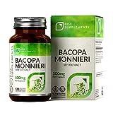 Bacopa Monnieri Cápsulas - 500 mg | Para Ayudar en el Aprendizaje y la Memoria | 120 Cápsulas Vegetarianas | SUMINISTRO DE HASTA 3 MESES