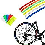 48 piezas, pegatinas reflectantes, pegatinas de decoración de rueda de bicicleta de motocicleta de 6 colores, pegatinas reflectantes de rueda, cinta reflectante