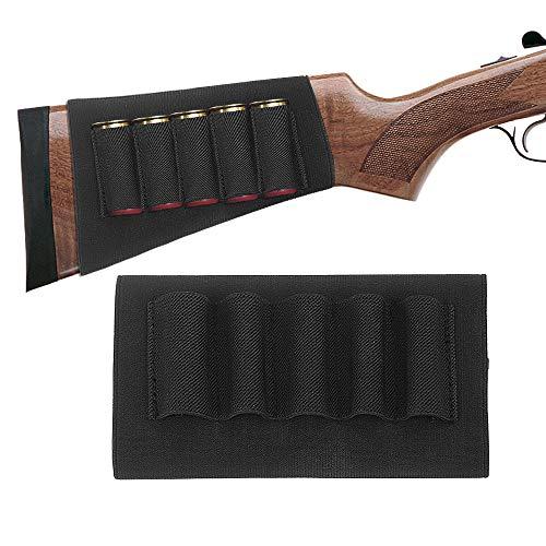 TacticalGear Butt Stocks for Shotguns - Stock Ammo Carrier - Shotgun Shell Holder - Shotshell Holder Buttstock Butt Stock Ammo Pouch Accessories Hunters Butt Stock for Butt Stock Black