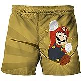 LIANGJI Shorts de Playa Mario Pantalones Cortos de Super Mario para Mario Bros, Pantalones Cortos de Dibujos Animados de Verano, Pantalones Casuales, Pantalones Cortos Impresos en 3D, Ropa para niños