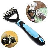 Tianor Cepillo/peine profesional para mascotasPeine para perros y gatos, para desenredar y eliminar el pelo muerto. Contribuye a reducir la pérdida de pelo.