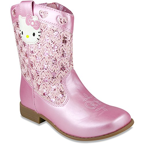 Hello Kitty Girls Trixie Western Boot Pink 12 M US