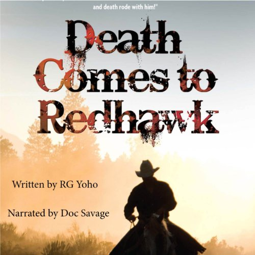Death Comes to Redhawk audiobook cover art