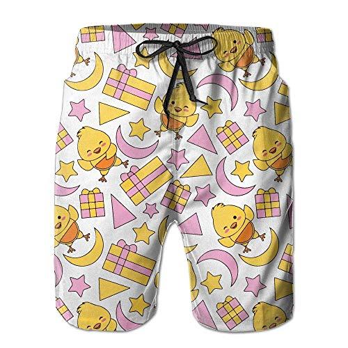 huibe Stelle estive per Pulcino da Uomo Moom Quick-Dry Running Swim Trunks Pantaloncini da Corsa Costume da Bagno da Spiaggia Sport, Taglia M